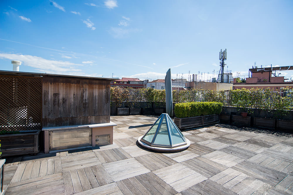 Penthouse in the center of Rome with a panoramic view