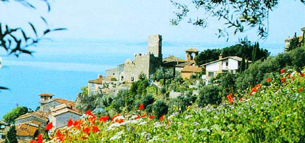 Historic Castle overlooking Lake Trasimeno