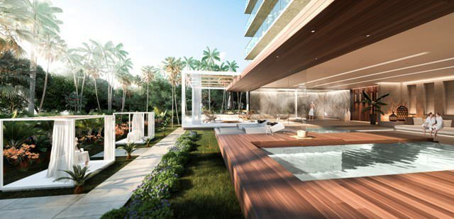 Apartments in a new residential complex in Miami